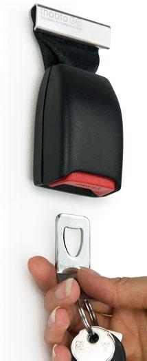 porta chaves com cinto de segurança