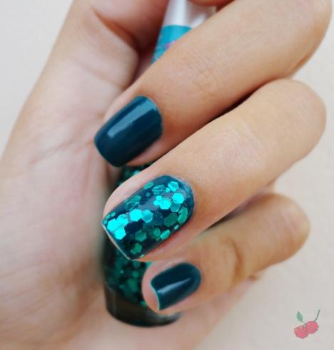 azul pavão + brilho da sereia