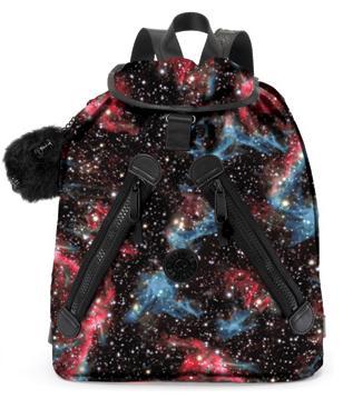mochila estampa galáxia