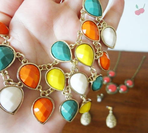 colar colorido ebay
