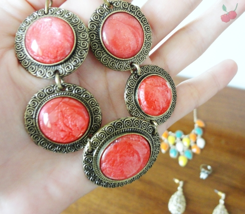 colar vermelho ebay