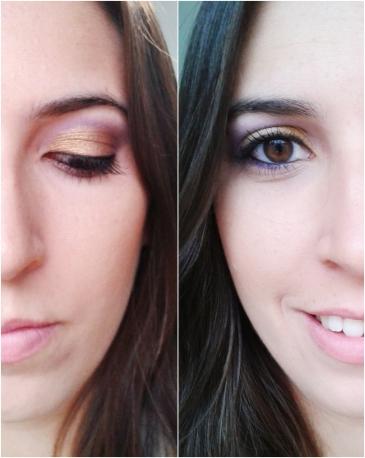 tutorial roxo e dourado