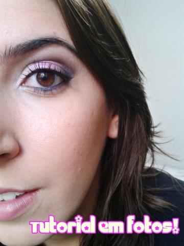 tutorial maquiagem rosa e preto