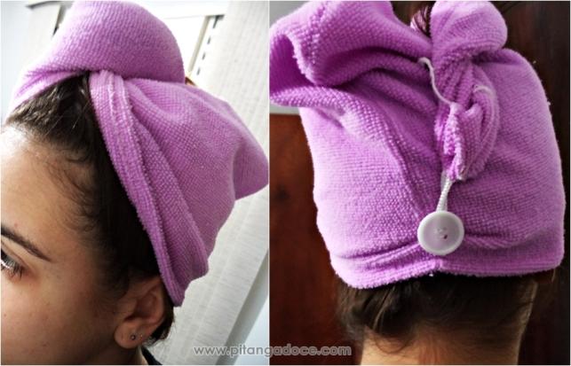toalha para secar o cabelo