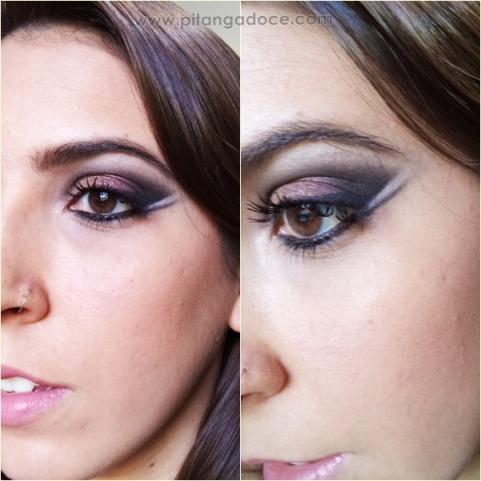 delineado duplo estilo maquiagem egípcia