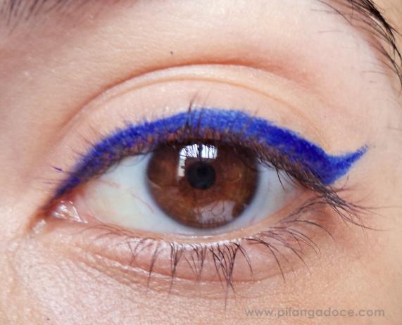 delineador em gel azul yes cosmetics